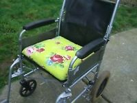 STURDY WHEELCHAIR [ WHEEL CHAIR ] FOLDS DOWN FOR STORAGE - CLACTON - CO15 6AJ