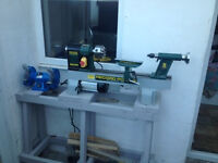 Woodturning Lathe, Chuck, Accessories & Chainsaw