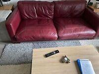 Real Italian Leather Sofa