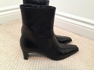 Browns Couture Black Leather Boots *Like New!
