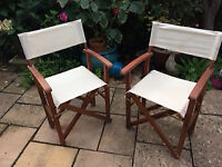 2 Directors Chairs for Garden