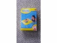 Swim safe inflatable baby support seat