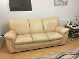 Leather sofa, 3 seater, 2 seater & 1 chair