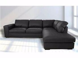 SALE PRICE SOFAS: Westpoint corner sofa, available in black, brown,cream or red