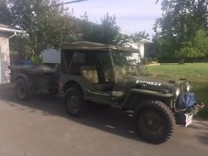 1951 Canadian Built Willy's Jeep M38 and Trailer