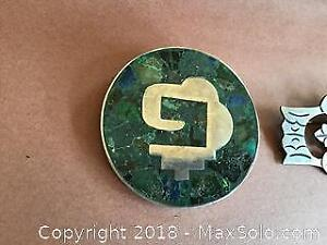 Two vintage Mexican sterling silver brooches.