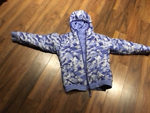 Girls North Face reversible ski jacket