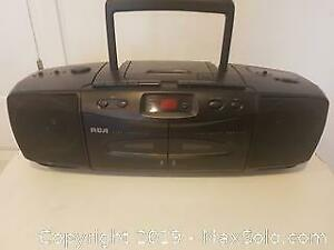 RCA CD Player w/Dual Cassette
