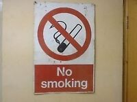 Vintage metal no smoking sign x3