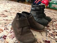 2 pairs of Quality leather winter and autumn boots for kids size 29