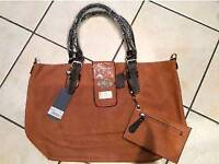 Large tan shopper bag BNWT