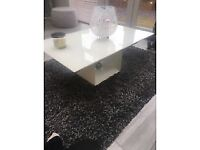 Modern White High Gloss Glass Top Coffee Table