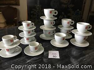 Illy Espresso Cups And Cappuccino Cups
