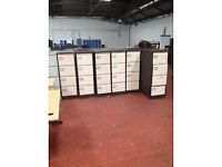 Beige & Brown 4 Draw Filing Cabinets - Light Used