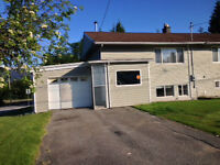 Half-duplex, two bedrooms plus den, great condition for August 1