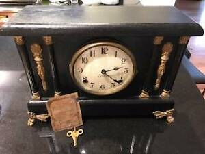 Antique Sessions 8 Day Mantle Clock Viewbank Banyule Area Preview