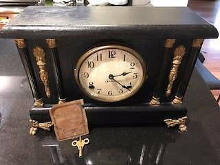 Antique Sessions 8 Day Mantle Clock
