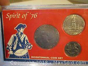 USA Spirit Of 76 Silver Coins Set. Bicentennial Coin Set.