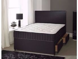 King size Bed & 25cm Big Orthopaedic Mattress FREE DELIVERY Today Headboard/Drawer Options