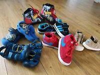 Kids Adidas, Nike - boys shoes size 6
