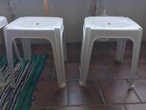 White Plastic Stools Lake Illawarra Shellharbour Area Preview