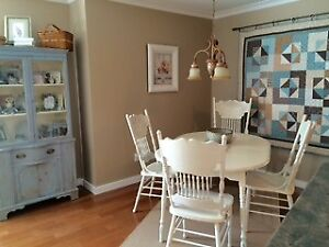 Vintage chalk painted dining set