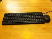 Acer KB36111 computer keyboard plus Acer wired mouse