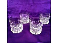 Waterford Crystal Lismore tumbler glasses (x4)