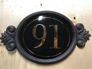 NEW CLASSIC HOUSE SIGN NUMBER 91. ONE ONLY. 1/2 PRICE