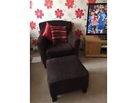 IKEA armchair and footstool - as new - £50