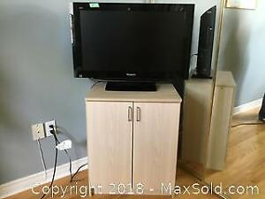 Panasonic LCD Flat Screen TV And Stand