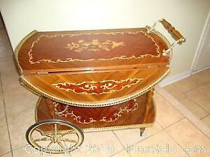 Gorgeous Vintage inlay serving trolley