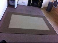 Large beige/brown reversible hard wearing rug