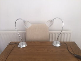 2 x John Lewis Touch table / bedside lights
