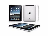REFURBISHED BLACK APPLE iPad 2 16GB MINT, NEW LEATHER CASE, NEW APPLE CHARGER, WARRANTY, LAPTOP USB