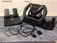 Joytech Jordan Racing Wheel For Playstation / Playstation 2