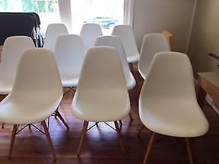Replica white Eams Eiffel Chairs