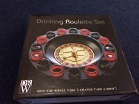 Casino Glasses Party Game Spin N Shot Roulette Wheel Adult Drinking Set 16 Shot