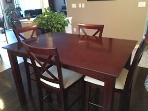 Solid Wood Pub Height Dining Set