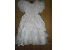 white bridesmaid dress age 8 years