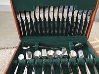 Amefa 58 piece canteen of cutlery
