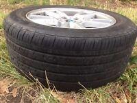 BMW X3 17'' Alloy wheels + x7 good spare tyres