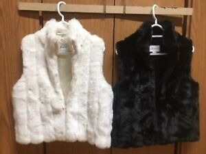 PRICED to SELL  :  FAUX FUR JACKETS/ VESTS
