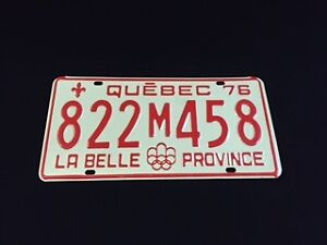 Plaque d'immatriculation Québec 1976 Licence Plate