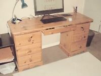 7 Draw Solid Pine Desk
