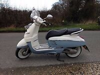 Django Evasion 50cc Peugeot Scooter 16 Plate Rocky Blue-Immaculate condition