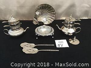Silver Plated Butter Dish And More
