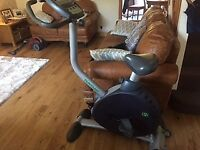 TUNTURI E6 EXERCISE BIKE WITH POWER SUPPLY MODEL NO 4031087GB