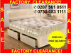 BRAND NEW CHEAPEST DIVAN BEDS WITH ORTHOPEADIC MEMORY FOAM POCKETSPRUNG MATTRESSES ALL SIZES -call--0755-083-1111--free Same Day Delivery--factory-stock-clearance-sale--, London