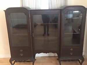 Solid mahogany china cabinet for sale